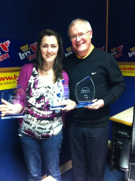 Nicola with Gerry Kelly, LMFM