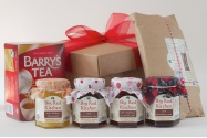 Irish teatime box with irish artisan jam and marmalade, Barrys Tea and Irish Soda Bread